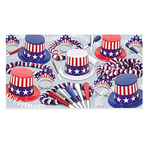 Spirit Of America Clear-View Asst for 10 Party Accessory (1 count) -