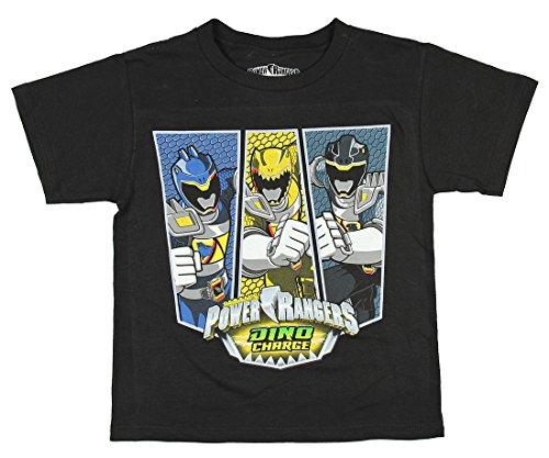 Power Rangers Boys' Dino Charge Black T-Shirt (6)