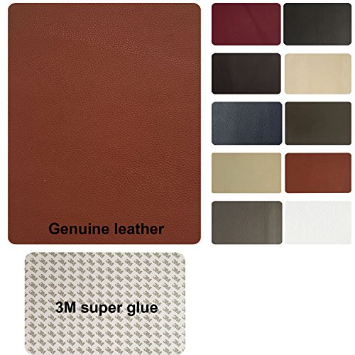Leather and Vinyl repair patch by TMgroup , genuine faux leather repair patch , peel and stick for couch , sofas , car seats , hand bags ,furniture, jackets , large size 8 x 11 inches (Tan) (Vinyl Adhesive Tan)