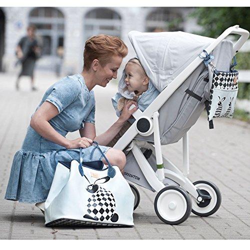 fournies à Dreamcatcher imperméable main Dreamcatcher à et assortie Blanc Sac multifonctions sangles Bleu Kids et pochette sac Sevira résistant langer universelles xCwpSHa
