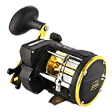 Isafish Trolling Reel with Line Counter Alarm Bell Saltwater Level Wind Ocean Fishing Reels for Sea Bass Grouper Salmon