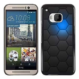 Caucho caso de Shell duro de la cubierta de accesorios de protección BY RAYDREAMMM - HTC One M9 - Sci-Fi Futuristic Robot Pattern