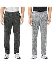 TEXFIT 2-Pack Men's Open Bottom Sweatpants with Side Pockets, Soft Fleece Jogging Pants (2pcs Set)