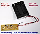 RED Flasher LED PCB with battery box for Dummy Alarm siren Security Bell flash box