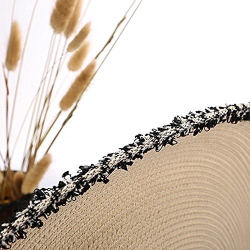 Mare Spiaggia Pieghevole Oro Lha Donna Color Paglia True colore Ombrello Protezione Visiera Cappello Solare Estate Viaggio Di Sole qcwYAZIzw