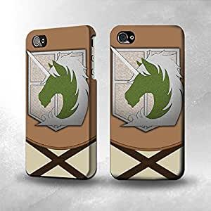 Apple iPhone 4 / 4S Case - The Best 3D Full Wrap iPhone Case - Attack on Titan Military Police Uniform