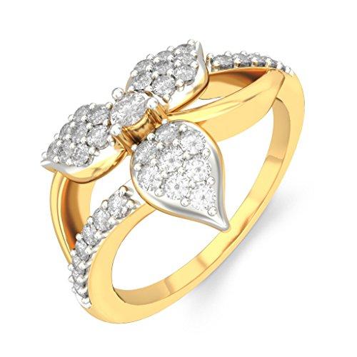 Or jaune 18K, 0,2CT TW Diamant Blanc (IJ | SI) en diamant