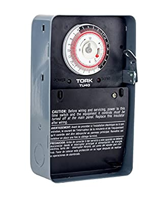 TU40 Series Universal Multi-Voltage Same ON/Off Times Each Day 24 Hour Time Switch, Metal, Indoor, 120/208-240/277 Timer Supply, DPDT Dry Contact
