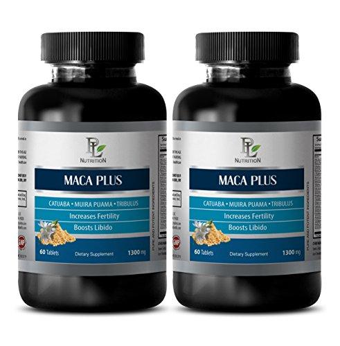 Ginseng Plus Green Tea - Sex drive pills for men and women - MACA PLUS - Maca powder pills - 2 Bottle 120 Tablets