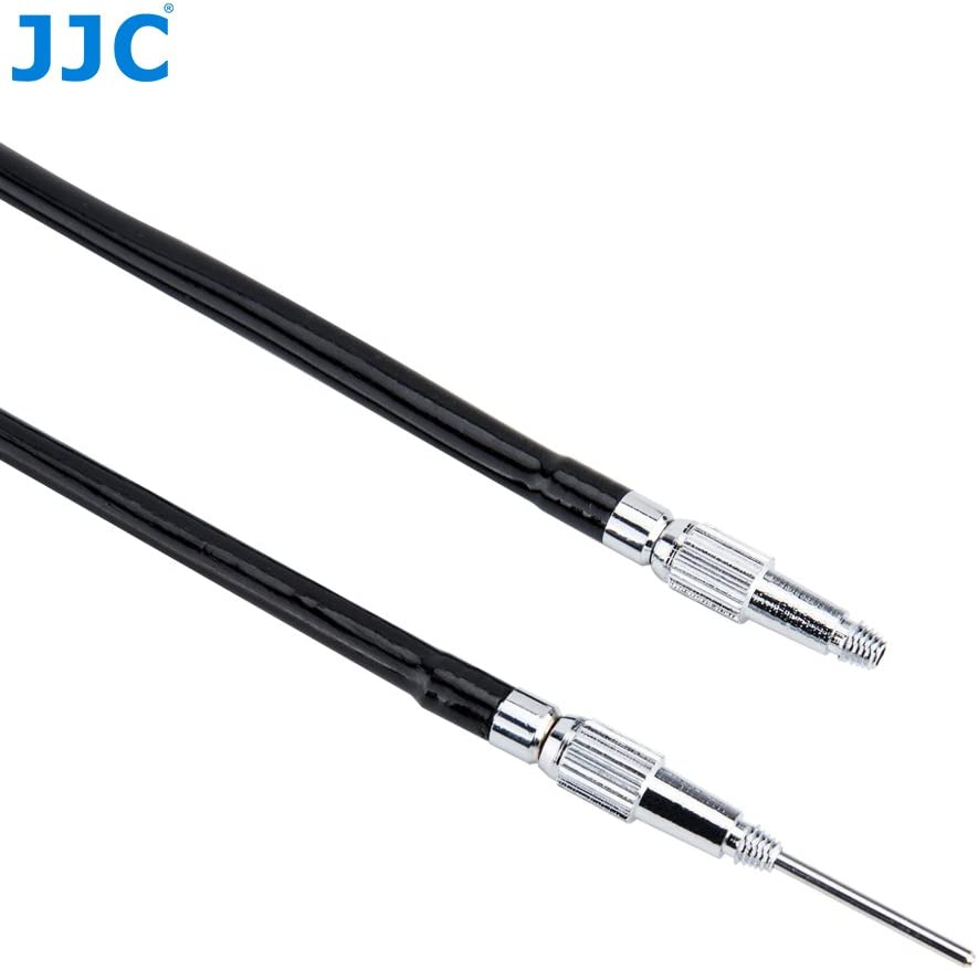 JJC 70cm//27.6 Silver Anti-Shaking Bulb-Lockable Metal Mechanical Shutter Release Cable for Fujifilm X100F X100T X100S X-T2 X-Pro1 X-Pro2 X-T20 X-T10 X-E2S X30 Sony RX1RII RX10II Leica M Series Camera