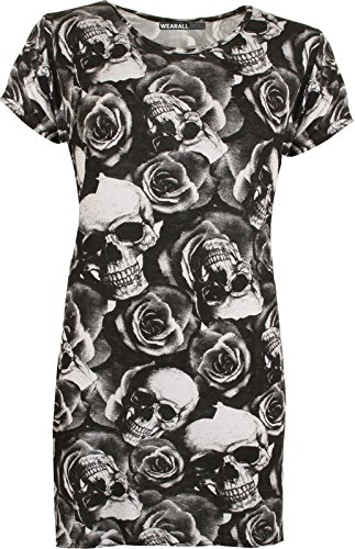 Rose Falda Fashion Para 48 Funky Rojo Mujer Shop Skull Z0Rqx7