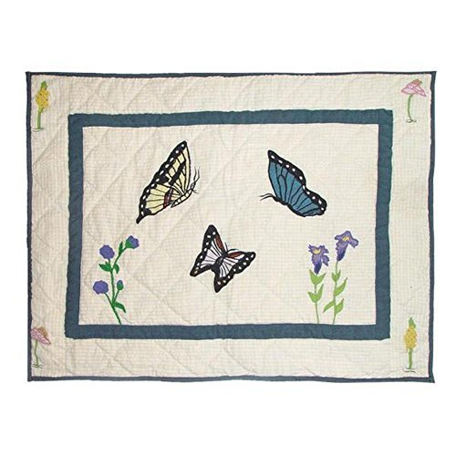 Patch Magic 27-Inch by 21-Inch Butterfly Kisses Pillow ()