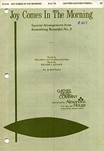 Amazon.com: Joy Comes in the Morning SATB Sheet Music with Piano ...