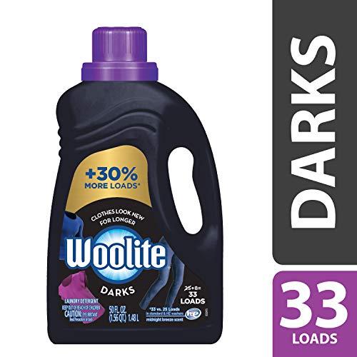 Woolite DARKS Liquid Laundry Detergent, 50 fl oz Bottle, With Color Renew, HE & Regular Washers ()