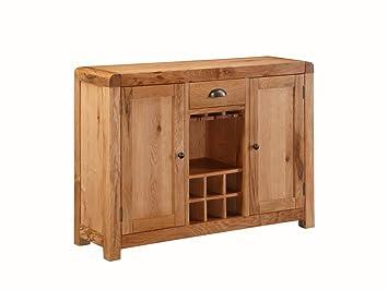 the one oakville eiche massiv eiche massiv klein sideboard mit weinregal wein rack 2
