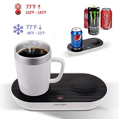 Warmer & Cooler Desktop Smart Cup, V-joy 2-in-1 Desktop Cooler Warmer Cup Coffee Mug For Home Office and Personal Health Care (Smart Cup Set)