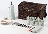 Picnic Beyond Wicker & Wood Picnic Basket for 4