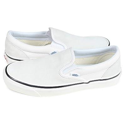バンズ VANS CLASSIC SLIP-ON スリッポン クラシック スニーカー ヴァンズ 98 DX ホワイト 白 VN0A3JEXQU2 レディースUS4.0-22....