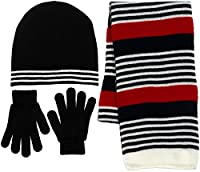Boy's 3 Piece Knit Hat, Scarf & Gloves Set