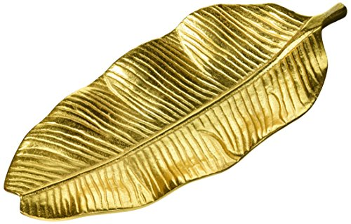 8 Oak Lane Gold Banana Leaf Tray