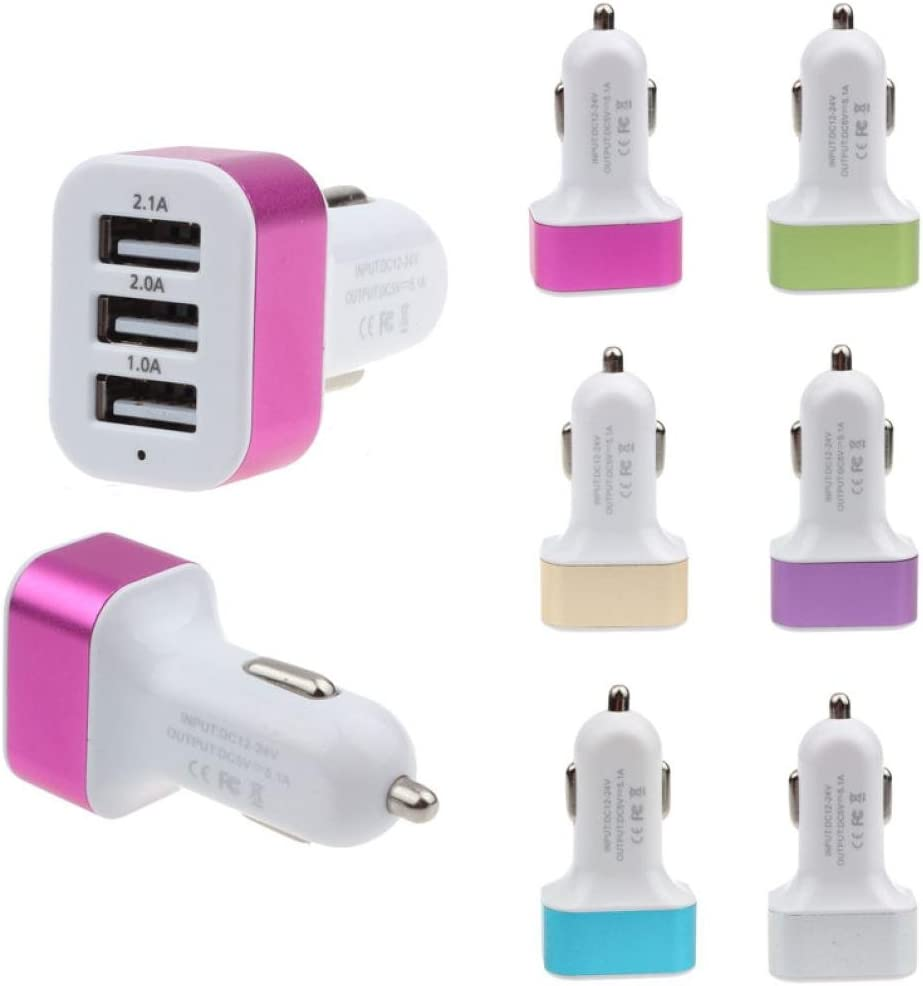 Note 8 4 Glumes Car Charger LG HTC Nexus 3 USB Automatic Identification Charging For iPhone X 8 7 6S 6 Plus 2.1A//5V Galaxy S9 S8 S7 S6 Edge Fast Charging 5 SE 5S 5 5C Purple