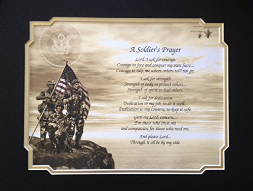 Army Soldier's Prayer Gift for Veterans Day Christmas Birthday Father's Day Husband Son Dad Military