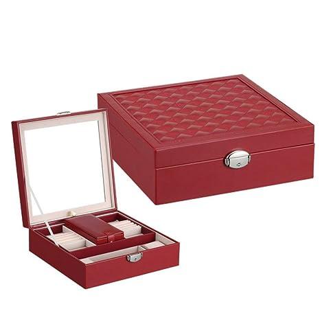 LYLESS Caja Cosmética Hecha A Medida Simple De Color Puro De Madera Caja De Joyería Creativa