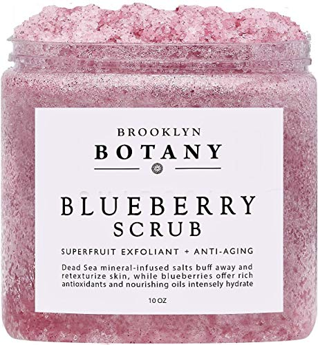 - Brooklyn Botany Blueberry Body Scrub 10 oz - For Anti Aging & Exfoliation - Great for Spider Veins, Stretch Marks, Fine Lines & Wrinkles - Great Gifts For Women