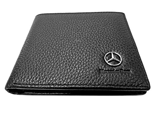 Dealstores123 Mercedes Benz Leather Wallet   ID Slot   3 Card Slots   Men's Genuine Leather Bifold Wallet from Dealstores123
