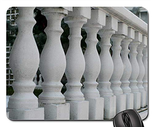 (Mouse Pads - Railings Porch Spindles White Wood Architecture)