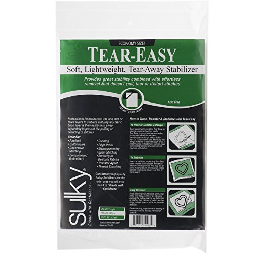 Sulky Tear-Easy Fabric Stabilizer, 20-Inch by 3-Yard