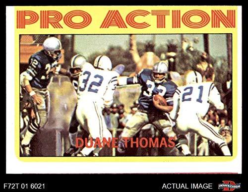 1972 Topps # 253 Pro Action Duane Thomas Dallas Cowboys (Football Card) Dean's Cards 2 - GOOD Cowboys