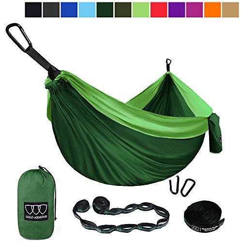 2 Person Double Camping Hammock With 2pcs Tree Straps Xl 10 Foot Nylon Portable Heavy Duty Holds 700lb For Sitting Hanging Sale Matching In Colour Outdoor Furniture