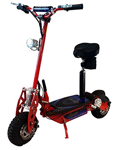 Super Turbo 1000 Watt Elite 36V  Electric Scooter, Red
