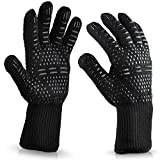 Eebuy Heat Resistant Oven Glove,Certified Flame-retardant Cooking Gloves For Cooking, Grilling,BBQ, Frying & Baking - Professional Indoor & Outdoor Wear-resisting Oven Glove (A)