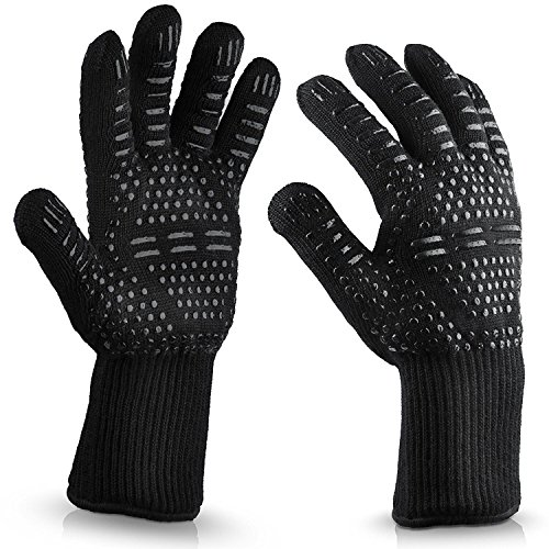 - Eebuy Heat Resistant Oven Glove,Certified Flame-retardant Cooking Gloves For Cooking, Grilling,BBQ, Frying & Baking - Professional Indoor & Outdoor Wear-resisting Oven Glove (A)