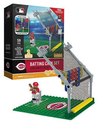 Oyo Sportstoys MLB Cincinnati Reds Batting Cage Set with Minifigure, Small, White