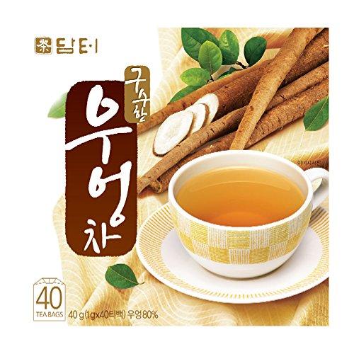 (DAMTUH Korean Traditional 100% Pure Natural Healing Premiu Burdock Root Tea, 40 Bags (Burdock Tea))