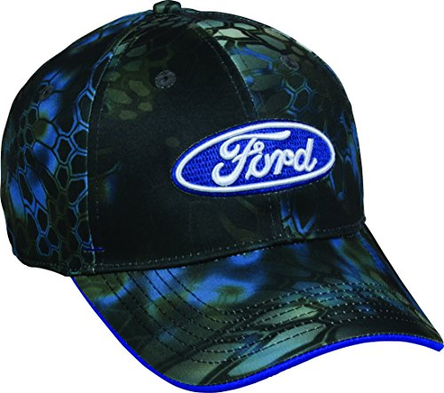 Outdoor Cap Mens Ford Camo Cap  Kryptek Neptune  One Size