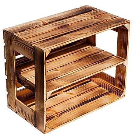 sólido Zapato bücherregalkiste Caja de fruta CAJA DE VINO MEDIDAS aprox. 50 x 40 x 31cm xxxaus la Viejo landxxxweinkisten cajas de fruta Caja de Madera Caja ...