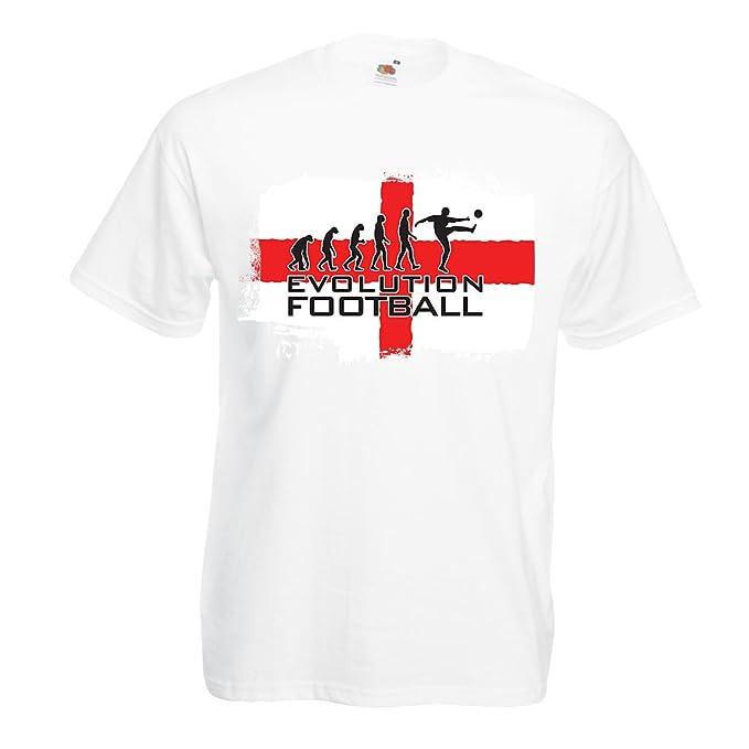 lepni.me Camisetas Hombre La Evolución de Fútbol - Inglaterra ... 4e8d988746917