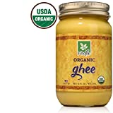 Cheap Veda Ghee – Certified Organic Pasture Raised Clarified Cultured Butter – Pure, Healthy Milk Fat that is Excellent in Coffee, as Cooking Oil, or for Diets Like Paleo and Whole 30 (16oz)