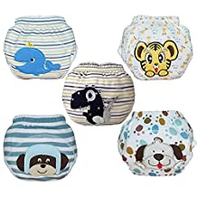 Babyfriend 5 Pack Healthy Baby Infant Cotton Potty Training Pants with Waterproof Layer