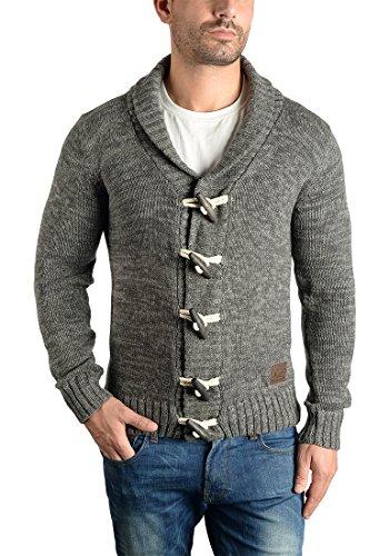 En Homme Veste Gilet 100 Châle Grey Col Prewitt Maille Coton Avec Grosse Dark Solid Cardigan 2890 Pour qw8TxUWIH