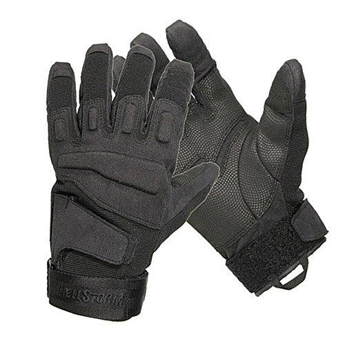BLACKHAWK! Men's Black S.O.L.A.G. Special Ops Full Finger Light Assault Glove (Black, Large)