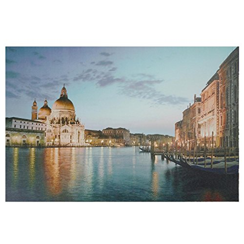 Northlight Seasonal 15.75 in. x 23.5 in. LED Lighted Venice City Italy at Sunset Canvas Wall Art from Northlight Seasonal