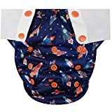 HappyEndings Toddler/Kid Pull On Reusable Cloth Diapers/Training Pants (Medium, (Fits 35-50 Pounds), Blast Off!): more info