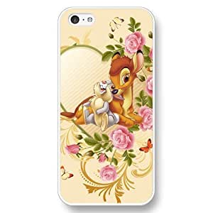 Diy Disney Cartoon Movie Bambi White Hard Plastic Diy For Iphone 4/4s Case Cover