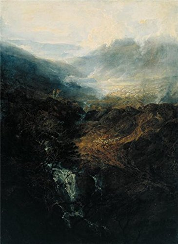 (The High Quality Polyster Canvas Of Oil Painting 'Joseph Mallord William Turner - Morning Amongst The Coniston Fells,Cumberland,1798' ,size: 24x33 Inch / 61x83 Cm ,this High Quality Art Decorative Canvas)