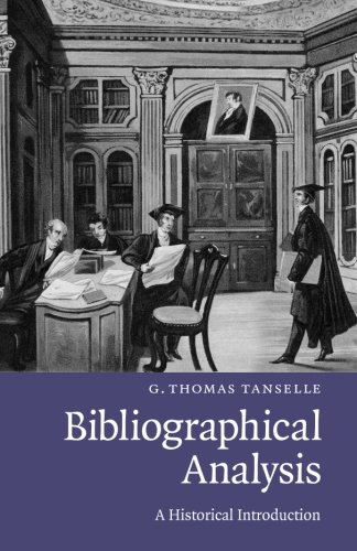 Bibliographical Analysis: A Historical Introduction
